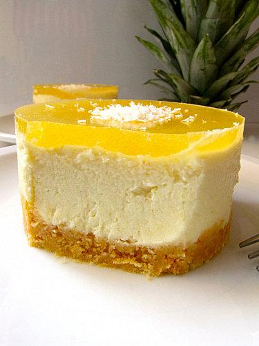 Cheesecake ananas sans cuisson lire - Cheesecake sans cuisson speculoos ...
