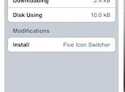 Five Icon Switcher icônes dans multitâche