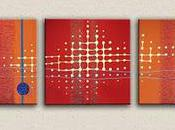 Tableau moderne design rouge orange N°34