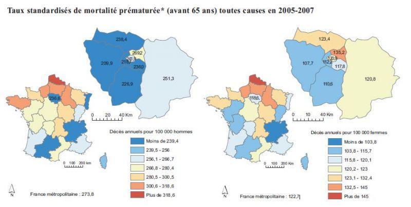 Le taux de mortalité infantile francilien est supérieur au taux national