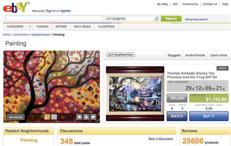 18 conseils pour vendre ses tableaux sur ebay paperblog. Black Bedroom Furniture Sets. Home Design Ideas
