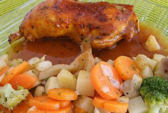 Cuisses de poulet pic es la sauce tomate paperblog - Cuisse de poulet a la poele ...