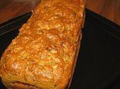 Cake moelleux ricotta, courgettes, crevettes parmesan