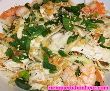 salade au chou et au poulet recette d inspiration vietnamienne goi ga bap cai paperblog. Black Bedroom Furniture Sets. Home Design Ideas