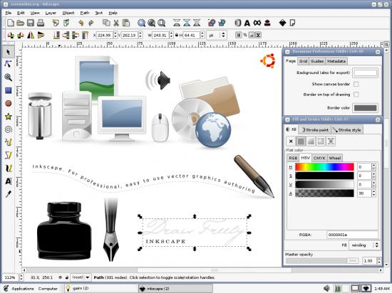 le logiciel de dessin vectoriel libre et gratuit
