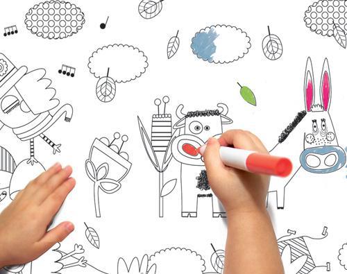 Papier peint colorier paperblog - Papier peint a colorier ...