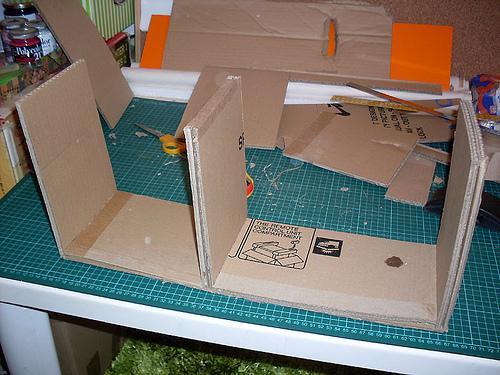Ik a mini tag res en carton le 1er tiers paperblog - J ai une maison toute ronde ...