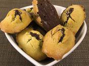 Madeleines chocolat pâte pistaches
