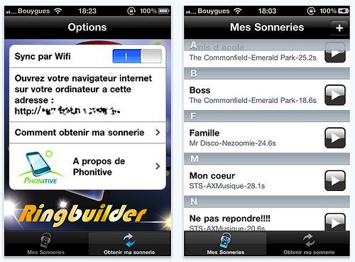 Creer Sonnerie Iphone Application