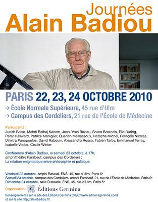 Journées Alain Badiou