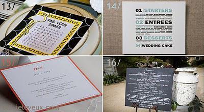 30 id es de pr sentations de menus oui je le veux paperblog. Black Bedroom Furniture Sets. Home Design Ideas