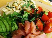 Salade Avocat Saumon fumé Petites Pâtes