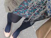 Collants bleus chaussures roses