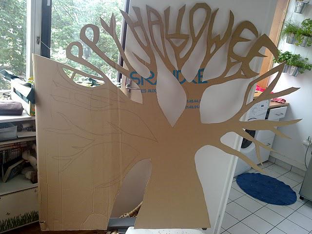 D cor halloween g ant pour le salon d couvrir - Decoration salon halloween ...