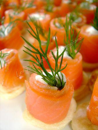 Canap s de saumon lire for Canape saumon