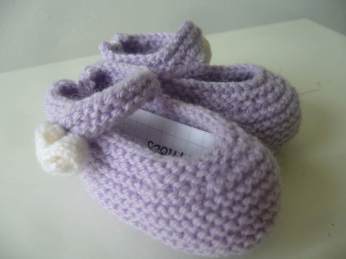 comment tricoter des ballerines pour bebe
