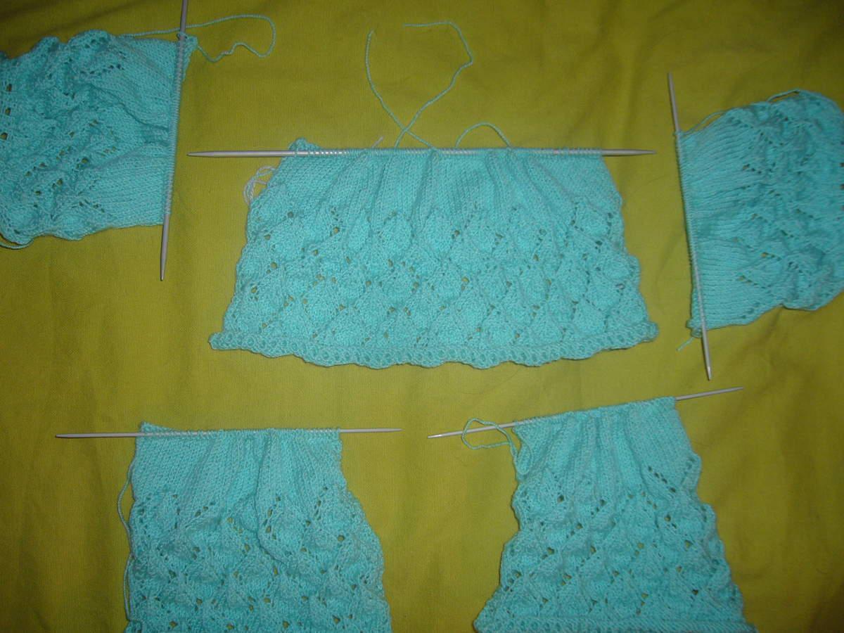 Pull en tricot simple,