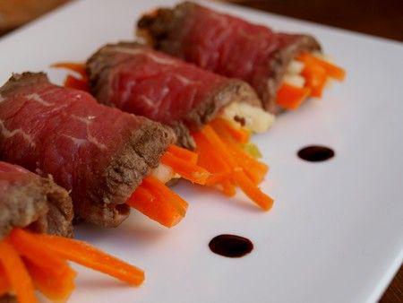 rouleaux de boeuf tataki aux carottes croquantes d couvrir. Black Bedroom Furniture Sets. Home Design Ideas