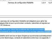 Apple Mise jour pour panneau configuration MobileMe Windows