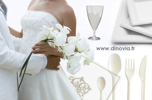 la vaisselle jetable id ale pour votre mariage voir. Black Bedroom Furniture Sets. Home Design Ideas