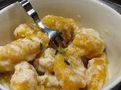 Gnocchis potimarron sauce parmesan