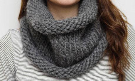 comment tricoter une echarpe tube pour homme