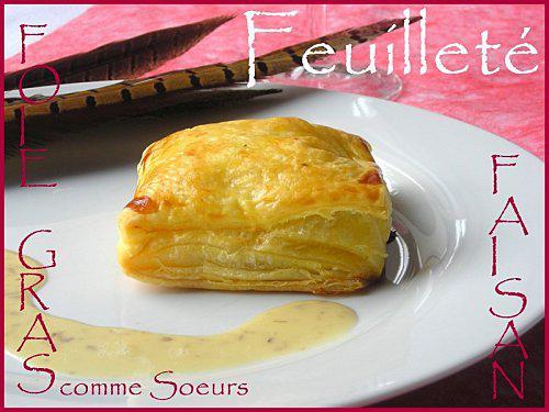 feuillet de faisan au foie gras et sa sauce truff e paperblog. Black Bedroom Furniture Sets. Home Design Ideas