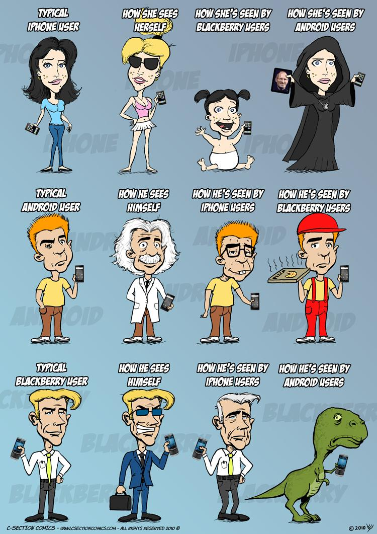 Humour] iPhone vs Android vs BlackBerry
