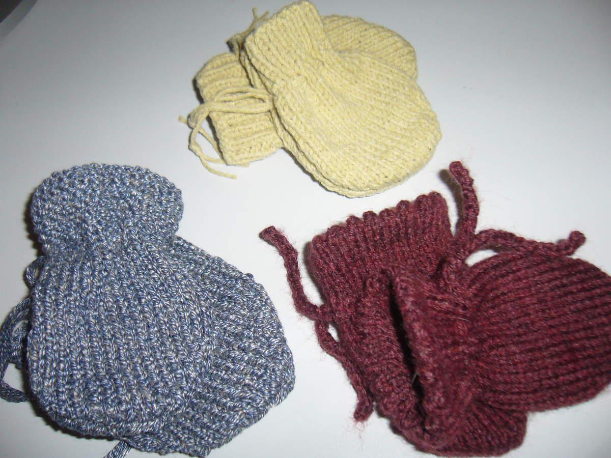 comment tricoter des moufles naissance