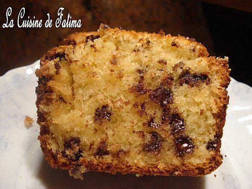 cake amandes et pepites de chocolat