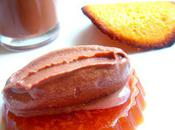 Gelée tuile sangria, crème anglaise ganache glacée chocolat