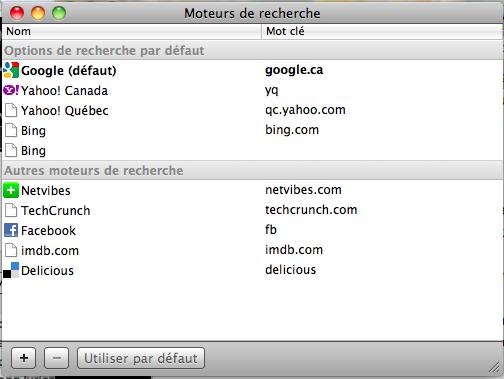 Capture d'écran 2010 11 13 à 11.23.28 Google Chrome : comment ajouter vos moteurs de recherche favoris
