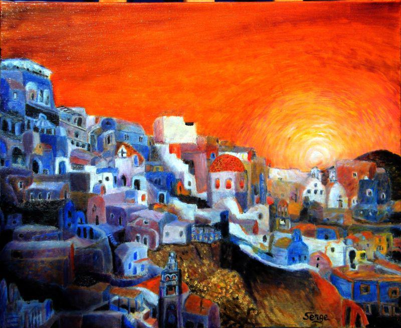 un cours gratuit de peinture lhuile santorin le soir - Avec Quoi Diluer La Peinture A L Huile