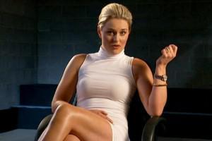 Lindsey Vonn se prend pour Sharon Stone dans Basic Instinct