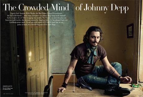 Johnny Depp dans Vanity fair