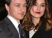 Keira Knightley James McAvoy très rock'n roll pour presse