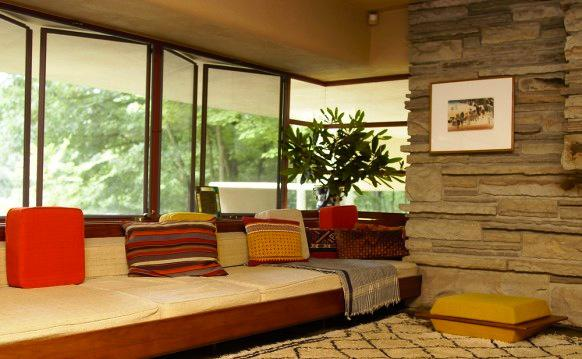 la maison du jeudi fallingwater frank lloyd wright voir. Black Bedroom Furniture Sets. Home Design Ideas