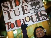 Journée mondiale contre sida. Manifestation Paris.