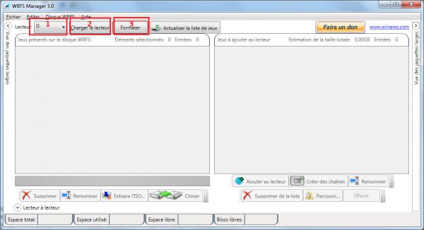 formater un disque dur en wbfs sous windows avec manager