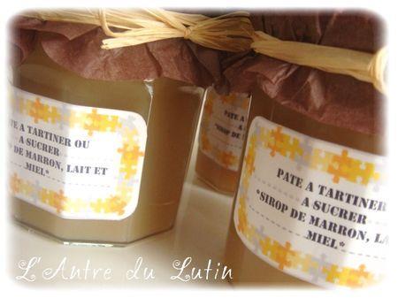 cadeau gourmand p te tartiner au sirop de marrons lait et miel voir. Black Bedroom Furniture Sets. Home Design Ideas