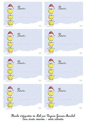 Etiquettes Cadeaux pour le Père-Noël