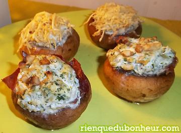 Amuse bouche gourmand mes champignons farcis ricotta for Amuse bouche foie gras aperitif