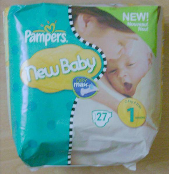 Pampers new baby - Prix couches pampers new baby taille 1 ...