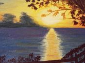 BOUILLANTE coucher soleil peinture