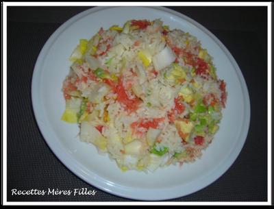 la recette salade de riz oceane aux endives paperblog. Black Bedroom Furniture Sets. Home Design Ideas