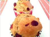 Muffins chocolat blanc, cranberries flocons d'avoine