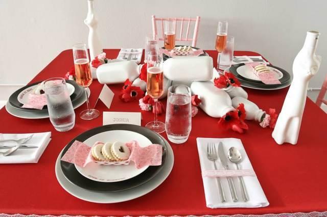 D coration de table de st valentin voir - Tavole apparecchiate moderne ...