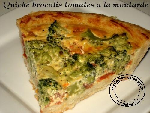 quiche brocolis tomates a la moutarde paperblog. Black Bedroom Furniture Sets. Home Design Ideas