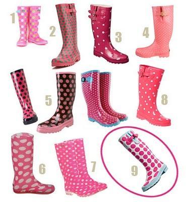 bottes de pluie femme originales