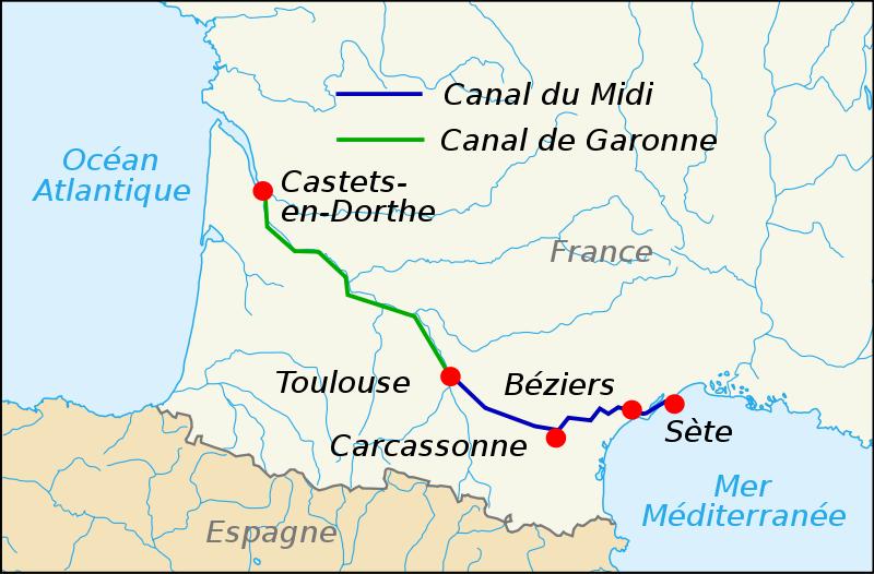 Fichier:Canal du Midi map-fr.svg